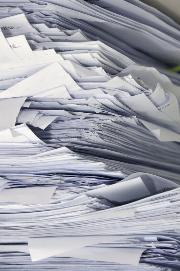 Pile de papiers d'affaires photo libre de droits