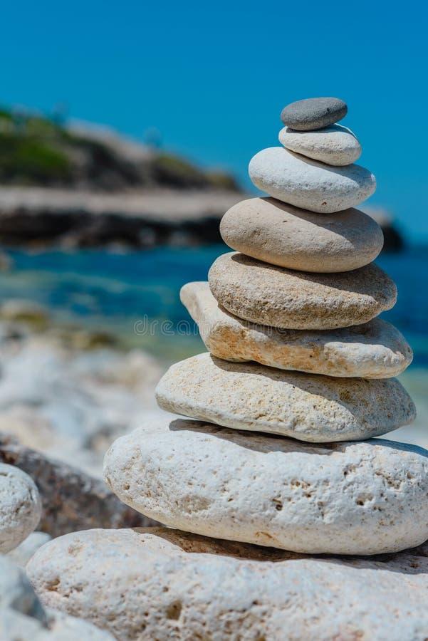 Pile de paysage naturel d'abrégé sur pierres photo stock