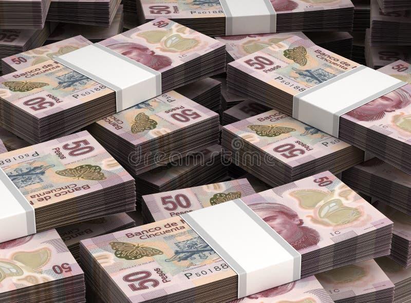 Pile de pesos mexicains illustration libre de droits