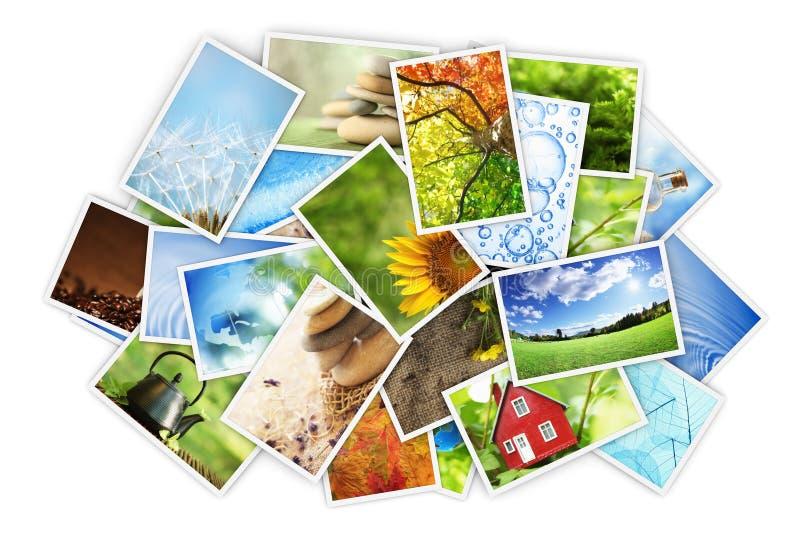 Pile de photos illustration de vecteur
