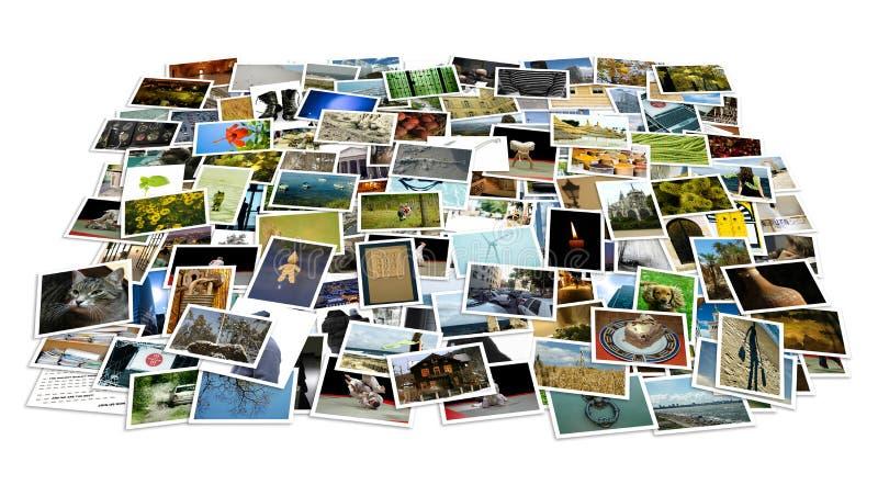 Pile de photos - point de vue photo libre de droits