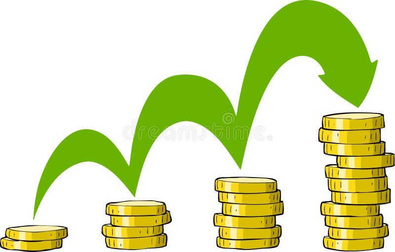 Pile de pièces de monnaie illustration libre de droits