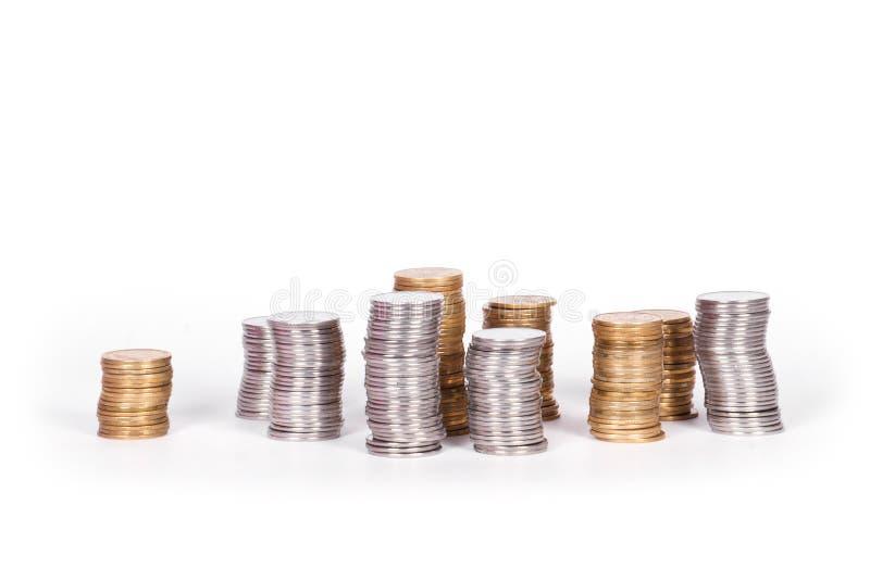 Pile de pièces de monnaie ukrainiennes photo libre de droits