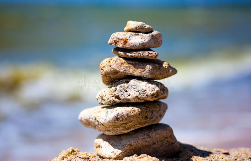 Pile de pierres photo libre de droits
