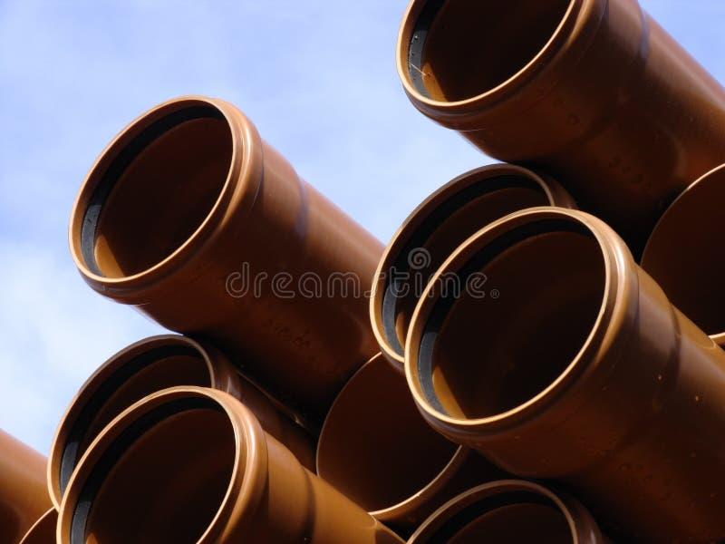Pile de pipes photo stock