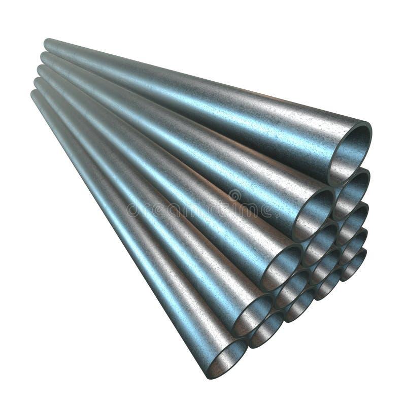Pile de pipes en acier illustration de vecteur