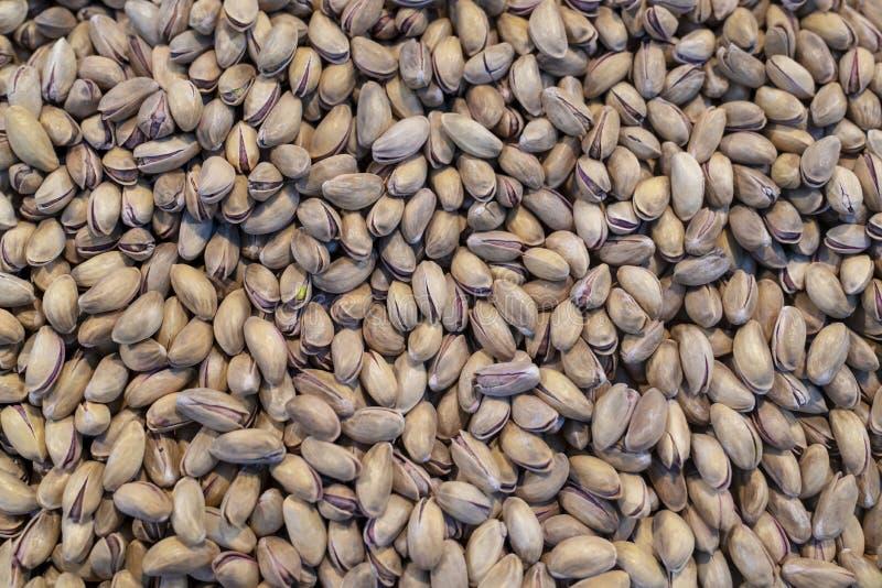 Pile de plan rapproché de pistache comme fond photos libres de droits