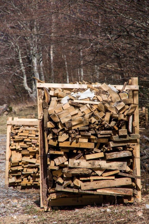 Pile de planches en bois images libres de droits