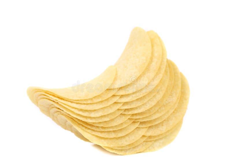Pile de pommes chips photographie stock