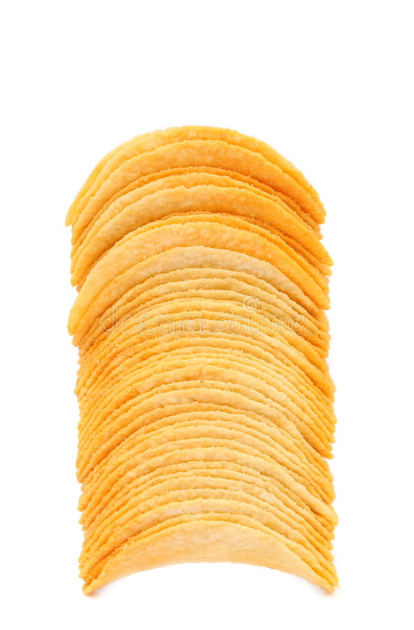 Pile de pommes chips. photos stock