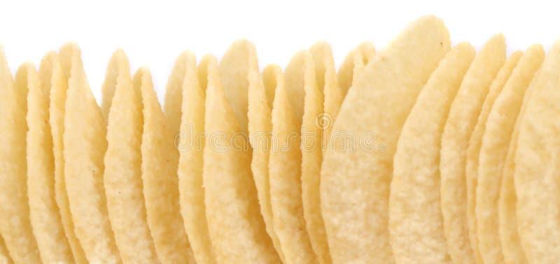 Pile de pommes chips. images stock