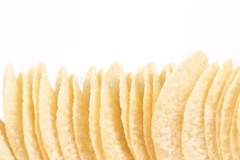 Pile de pommes chips. photo stock
