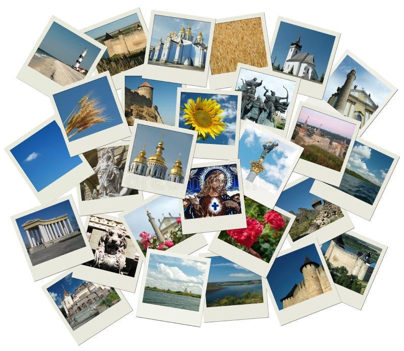 Pile de projectiles de photo avec les bornes limites ukrainiennes photographie stock libre de droits