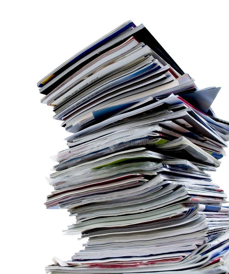 Pile de revue image stock