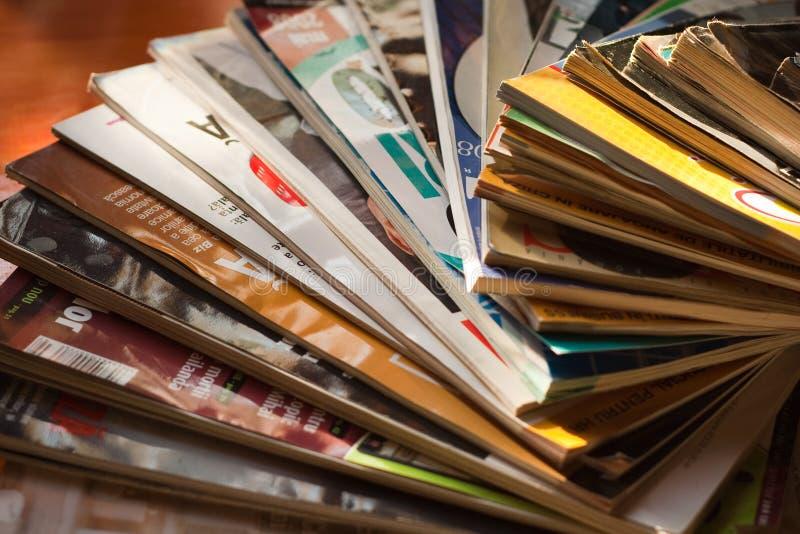 Pile de revues image libre de droits