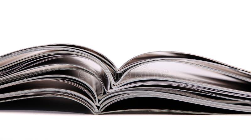 Pile de revues et de livres images stock