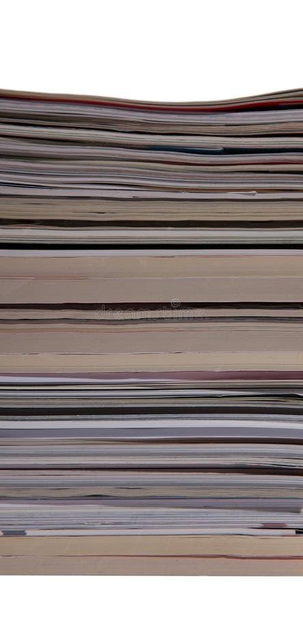 Pile de revues et de livres images libres de droits