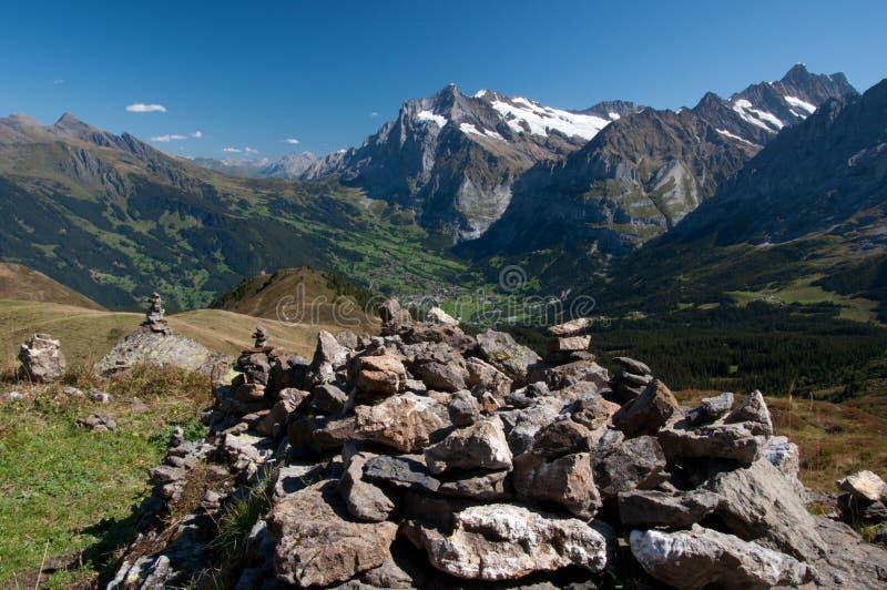 Pile de roche, Kleine Scheidegg photographie stock libre de droits