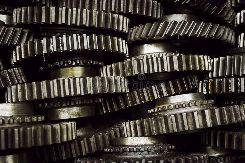 Pile de roue dentée images stock