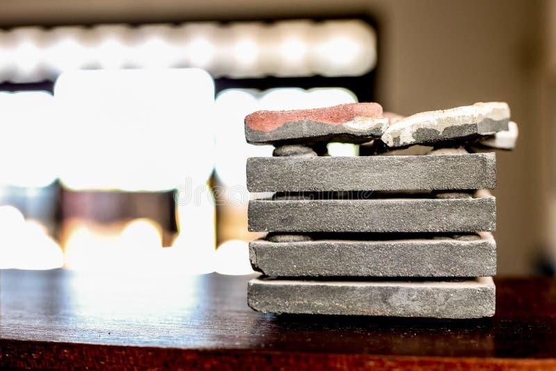 Pile de rouleau de marbre gris photographie stock