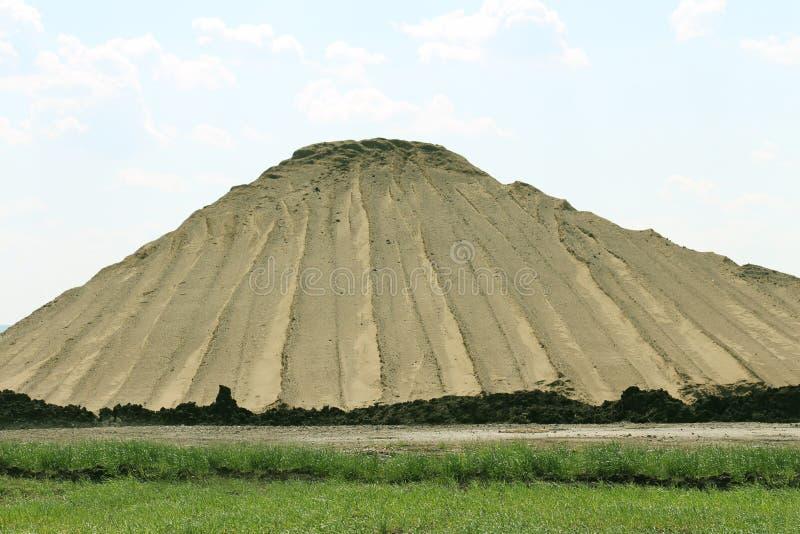 Pile de sable et de saleté image stock