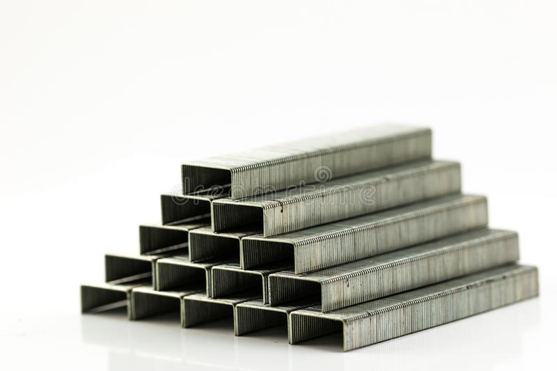 Pile de Staples photographie stock