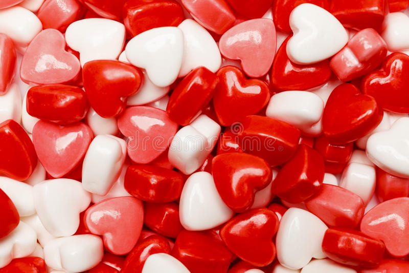Pile de sucrerie de coeur image stock