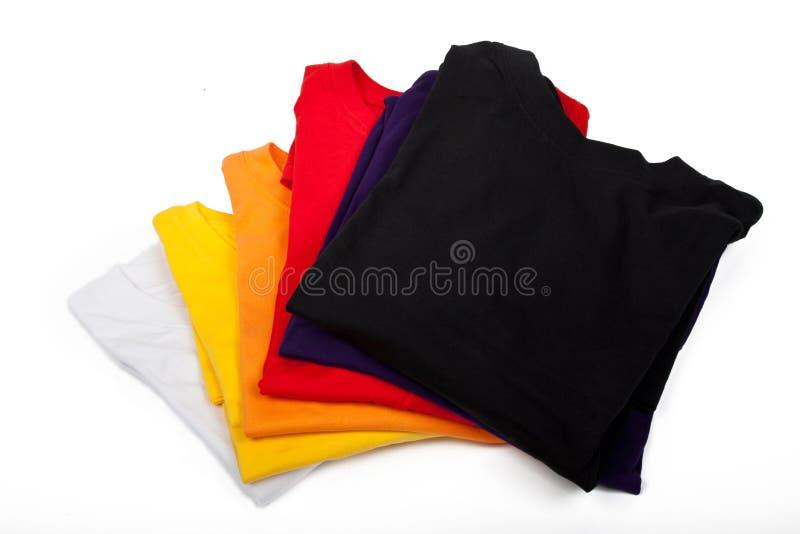 Pile de T-shirts photographie stock libre de droits
