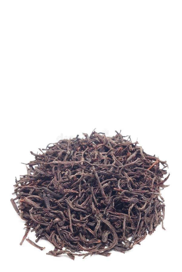 Pile de thé sur le blanc photographie stock