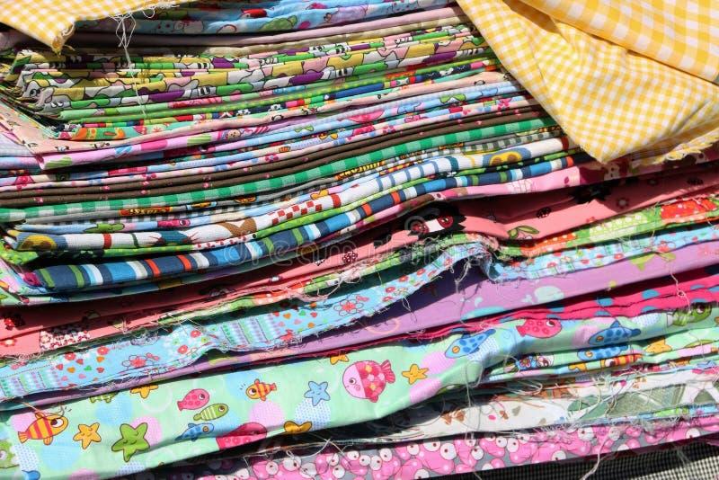Pile de tissu images libres de droits