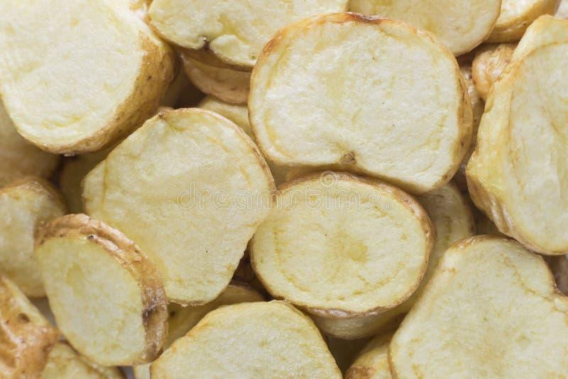 Pile de tranches de pommes chips photo stock