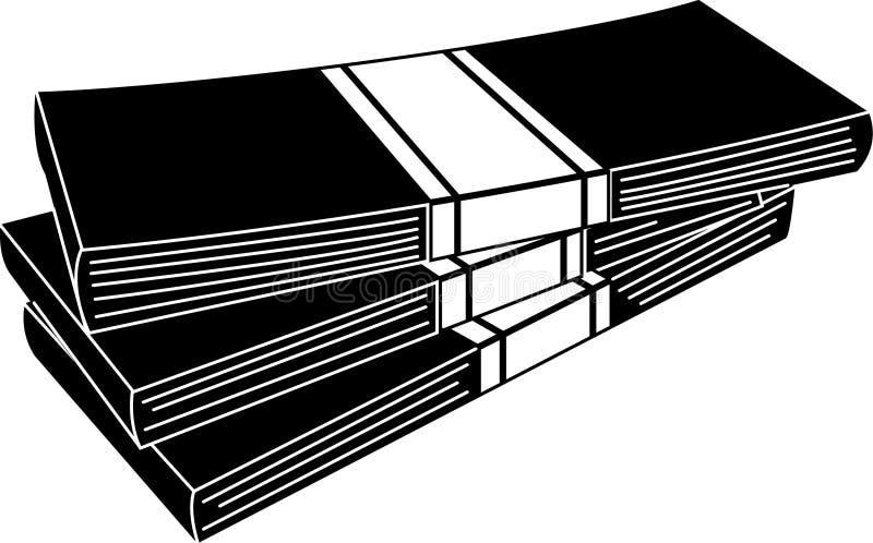 Pile de vecteur editable d'illustration d'icône d'argent dans la couleur noire illustration libre de droits