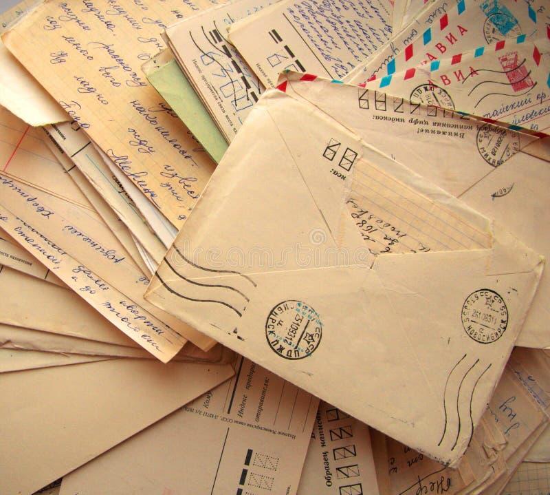 Pile de vieilles lettres photographie stock libre de droits