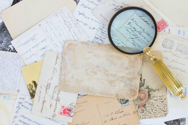 Pile de vieilles lettres photo libre de droits
