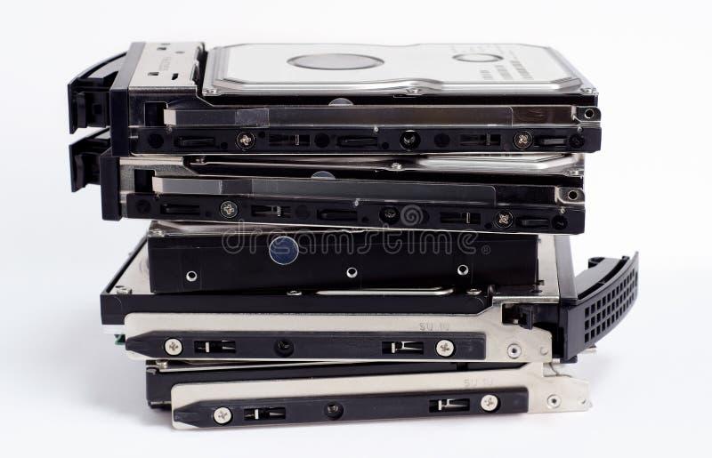 Pile de vieux disque dur image libre de droits