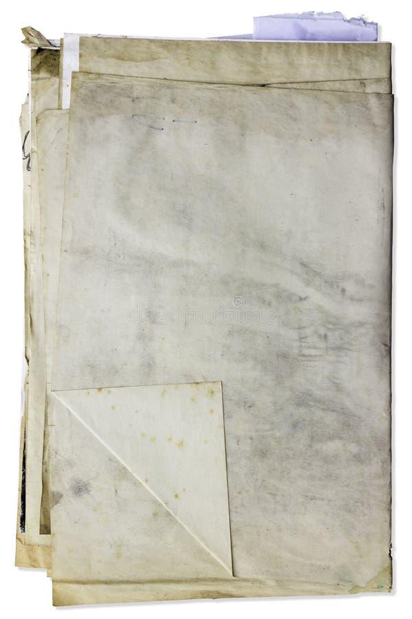 Pile de vieux document sur papier image libre de droits