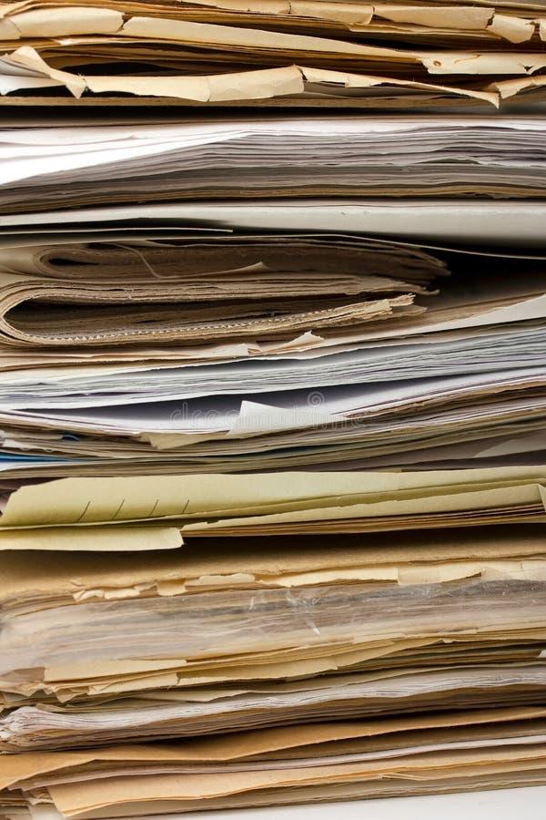 Pile de vieux fichiers papier comme fond photo libre de droits