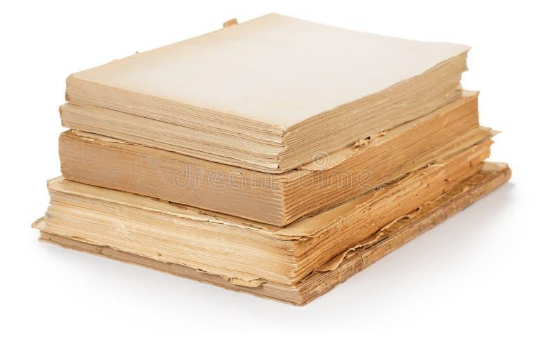 Pile de vieux livres d'isolement photo libre de droits