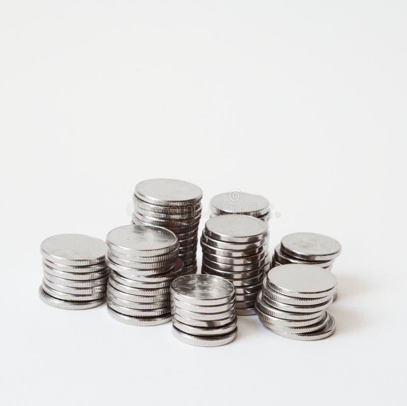 Download Pile Della Moneta Del Metallo Fotografia Stock - Immagine di investimento, interesse: 7303220