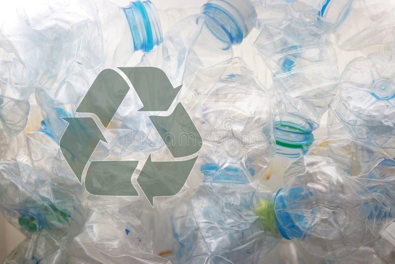 Pile der gebrauchten PET-Flaschen zum Recycling 8 stockfoto