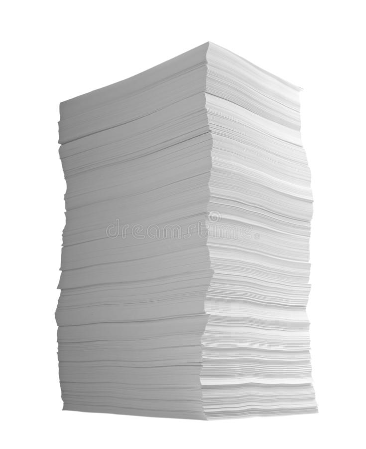 Pile des affaires de bureau de documents sur papier photographie stock libre de droits