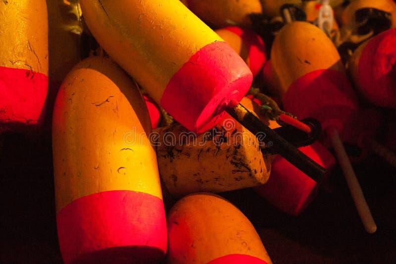 Pile des balises de homard image libre de droits