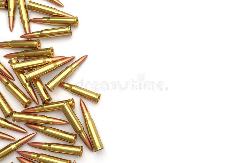 Pile des balles sur le fond blanc illustration libre de droits