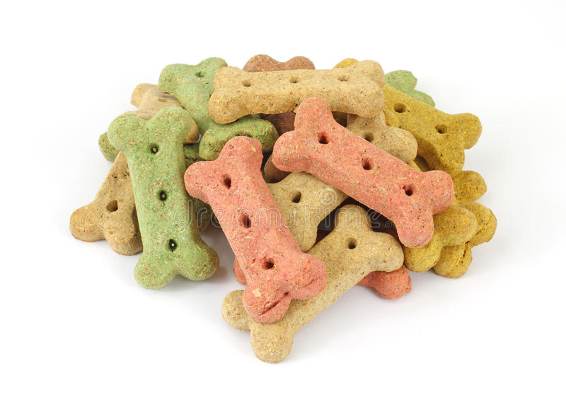 Pile des biscuits de crabot photo stock