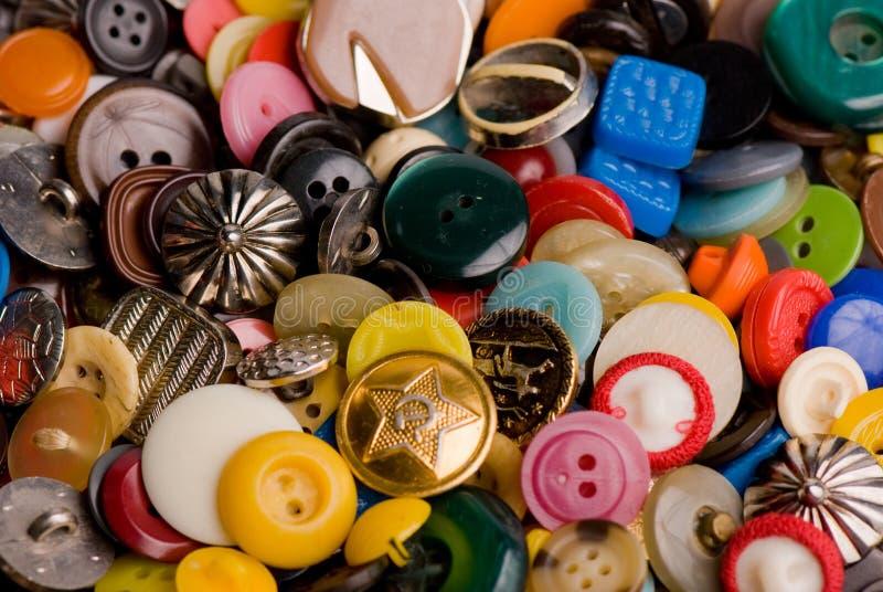 Pile des boutons photo stock