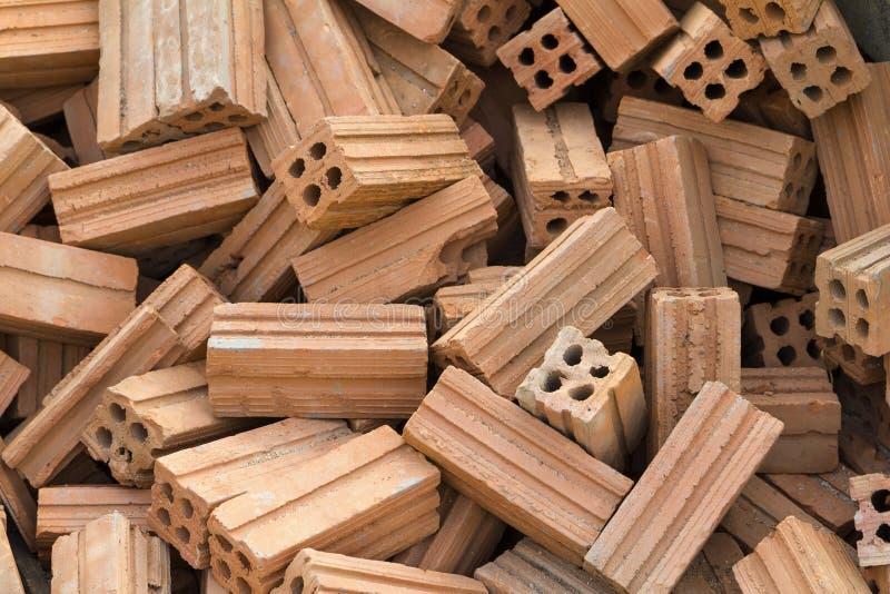 Pile des briques dures de construction photo libre de droits