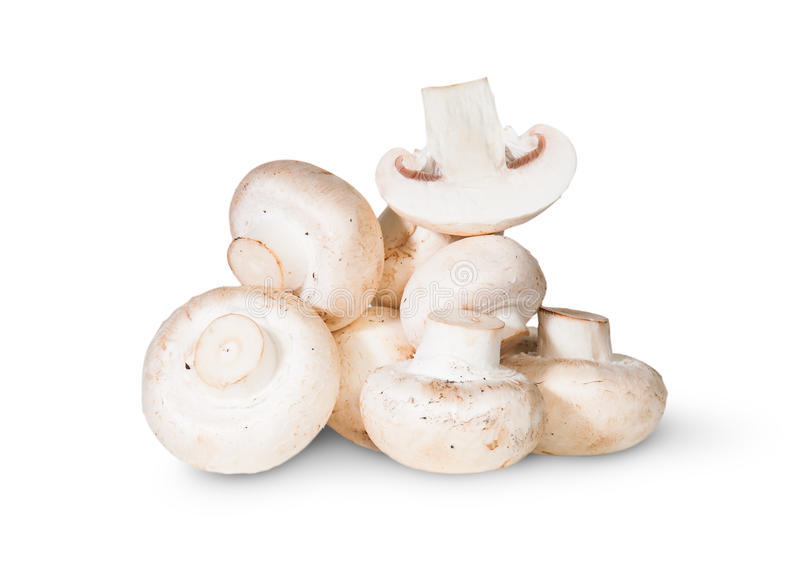 Pile des champignons et d'un demi- photographie stock
