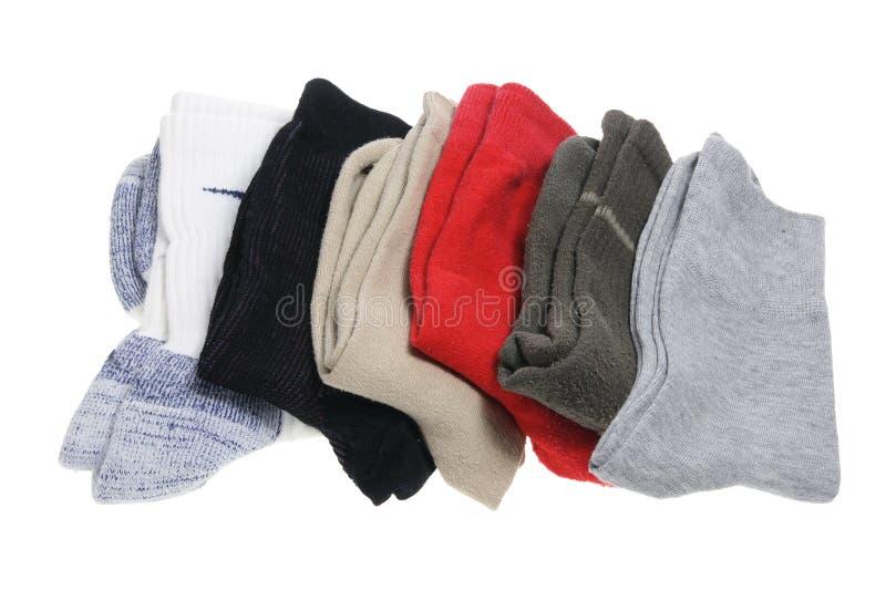 Pile des chaussettes des hommes image stock