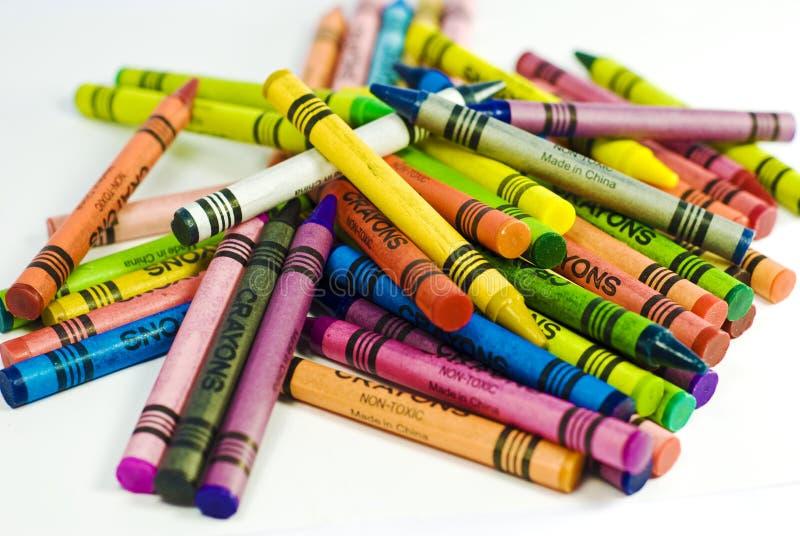 Pile des crayons images libres de droits