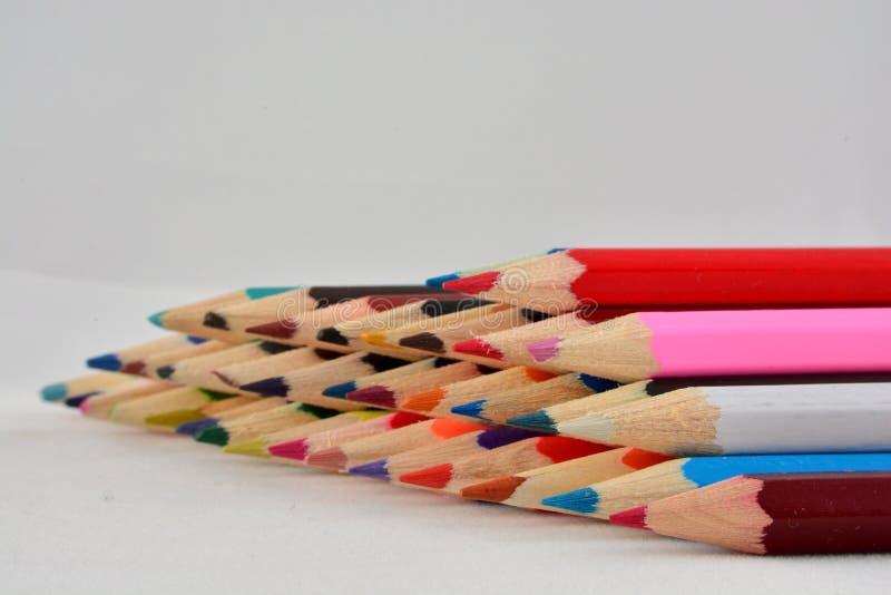 Pile des crayons de coloration photographie stock